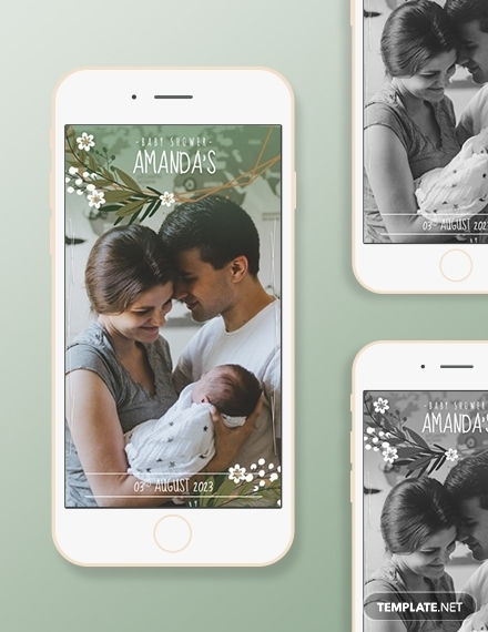 baby shower snapchat geofilters design