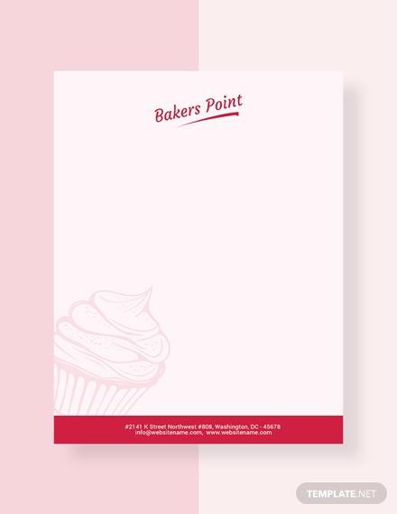 bakery letterhead