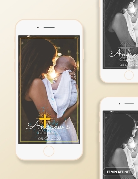 baptism snapchat geofilters sample