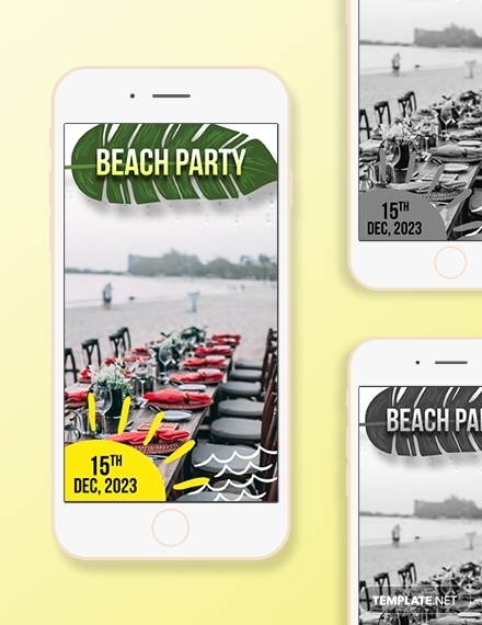 beach party snapchat geofilters design