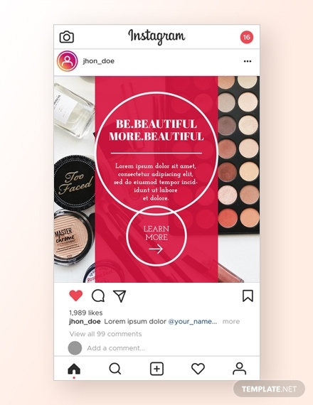 beauty instagram ad