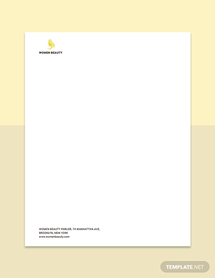beauty parlor letterhead
