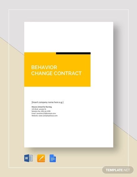 behavior change contract1