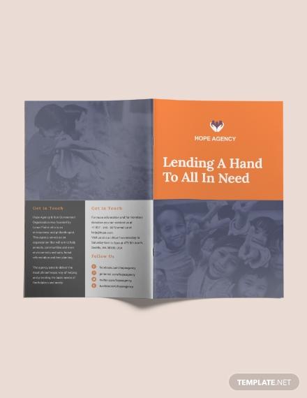 bi fold fundraising brochure