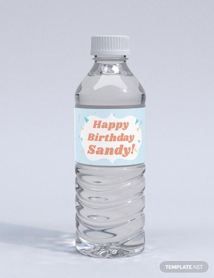 birthday bottle label