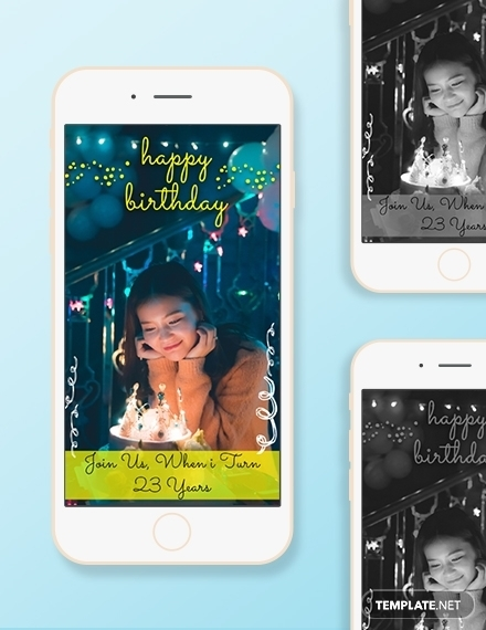 birthday snapchat geofilters template