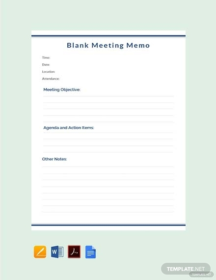 blank meeting memo1