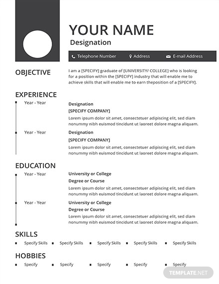blank resume design