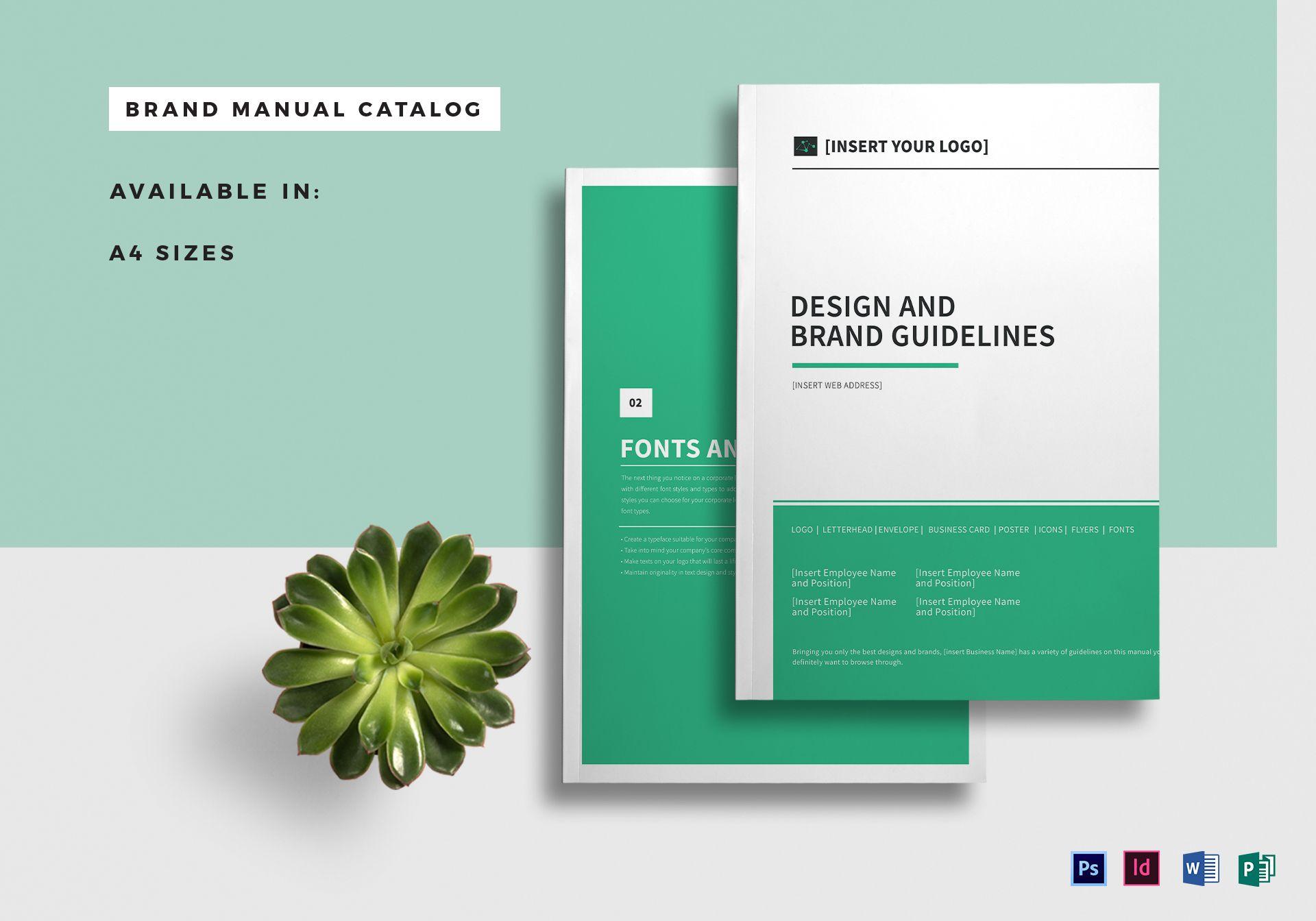 brand manual catalog