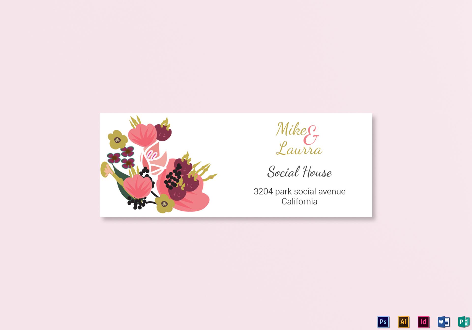burgundy floral wedding address labels card