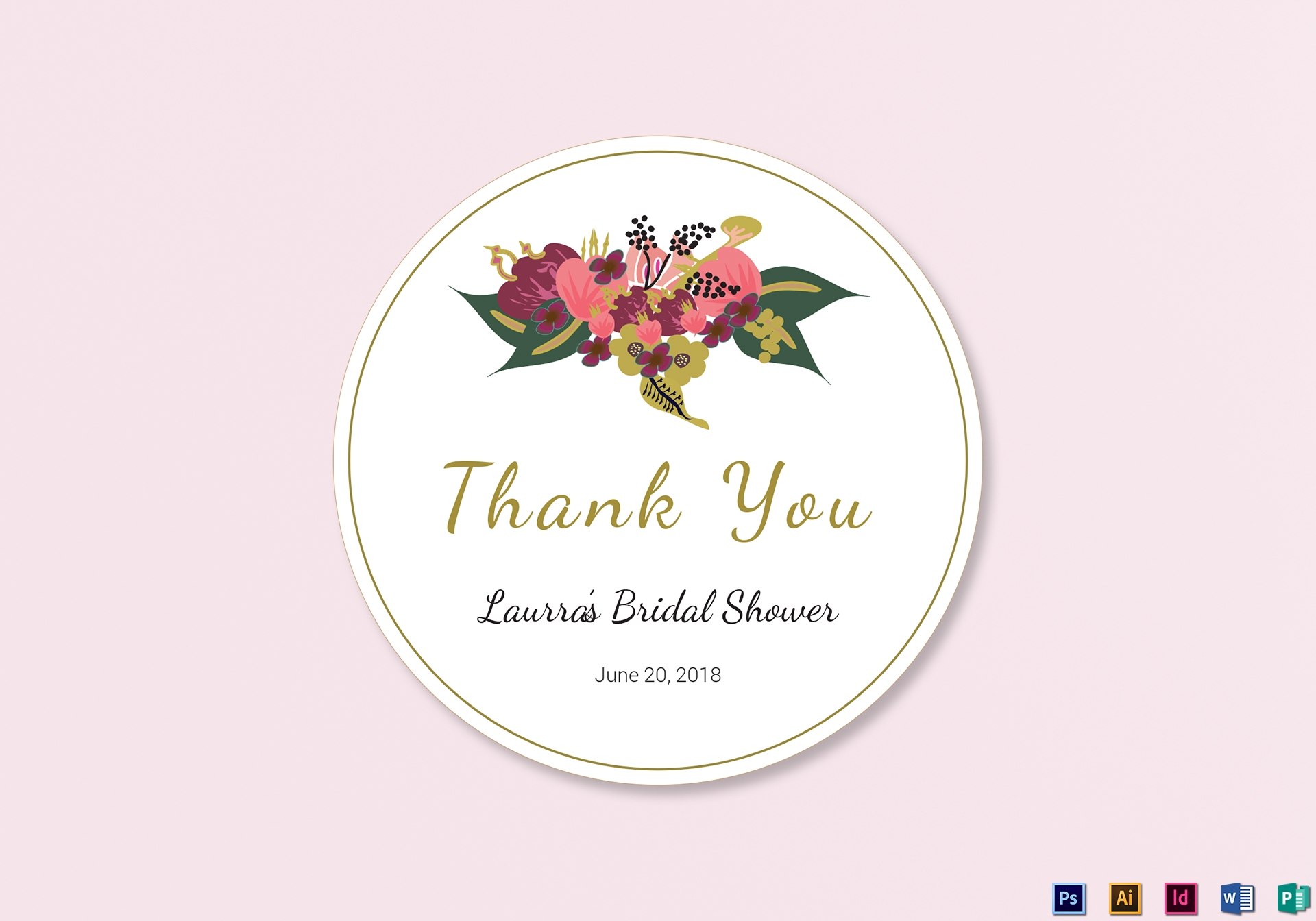 burgundy floral wedding label