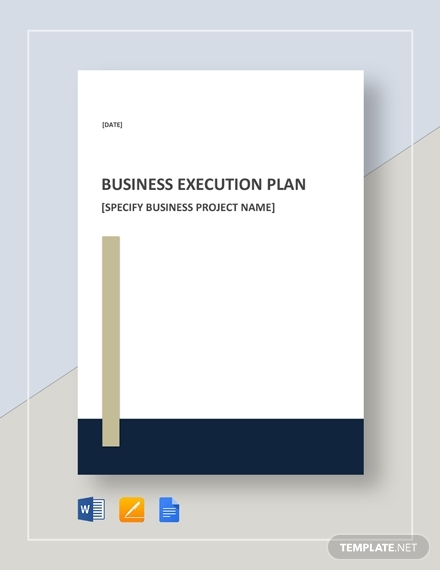 business execution plan design