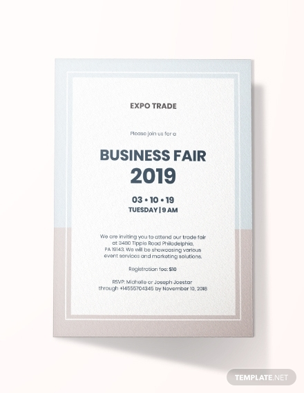 business fair invitation
