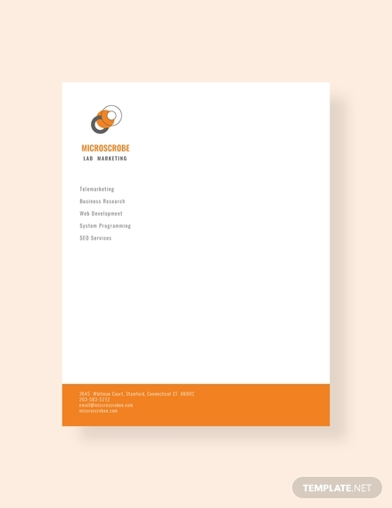 business marketing letterhead