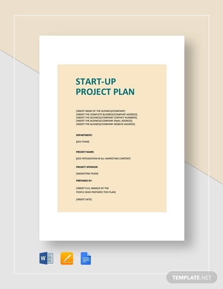 business start up project plan