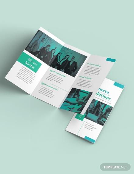 business training tri fold brochure