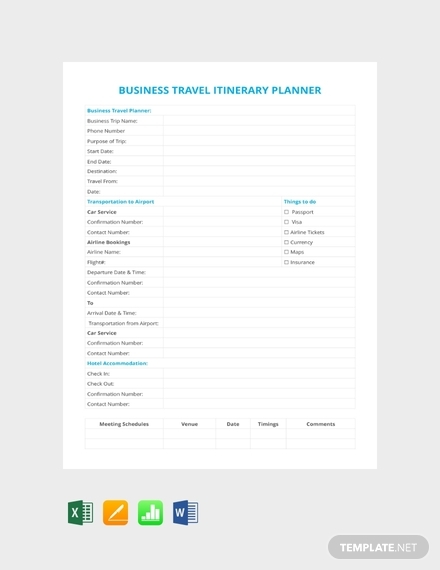 business travel itinerary planner1