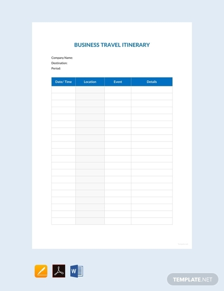 blank trip itinerary template.html