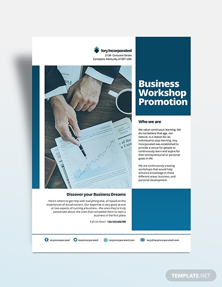 business workshop promotion flyer