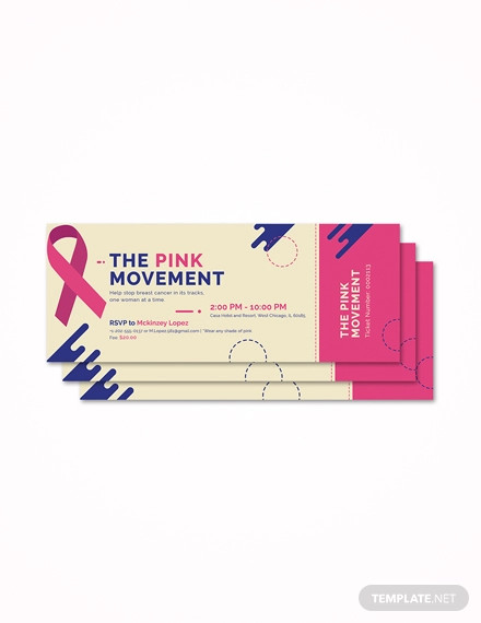 cancer fundraiser ticket