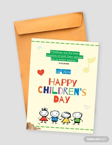 childrens day greeting card