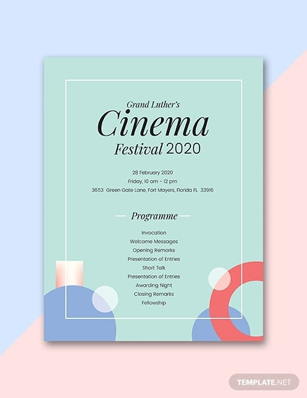 cinema festival event program