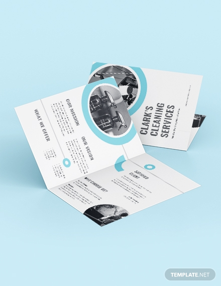 cleaning company bi fold brochure