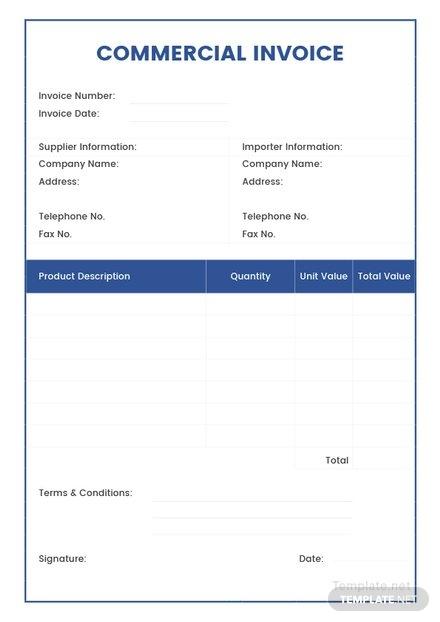 commercial invoice design