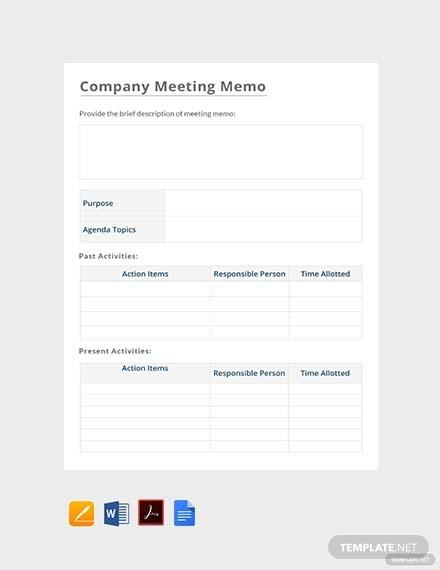 company meeting memo1