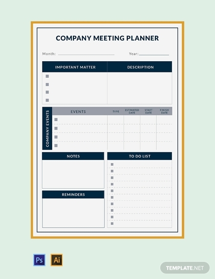 company meeting planner
