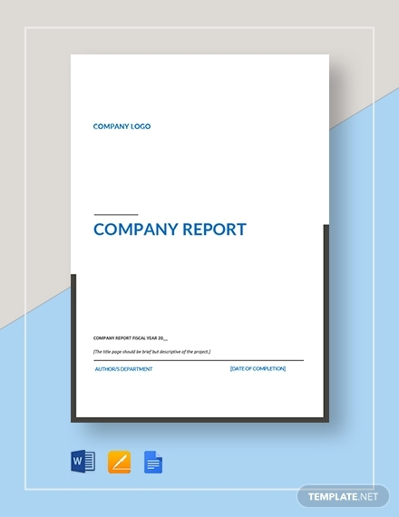 company report template