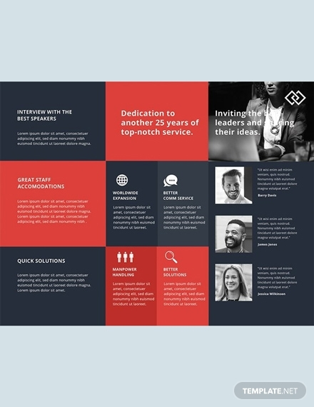 conference business brochure template