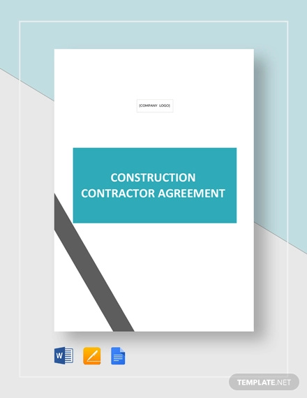 construction contractor agreement template