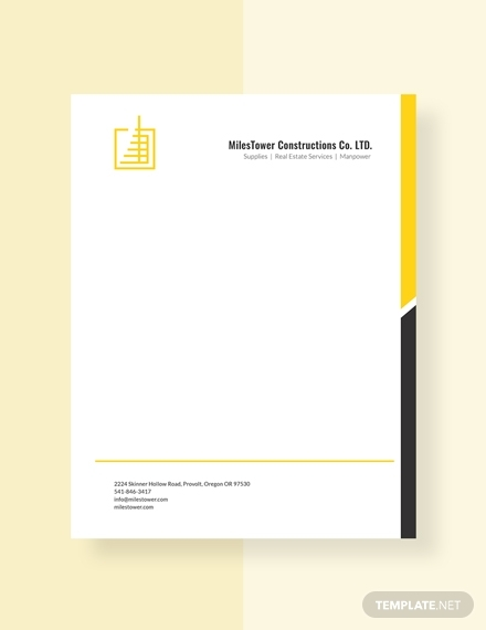 construction letterhead