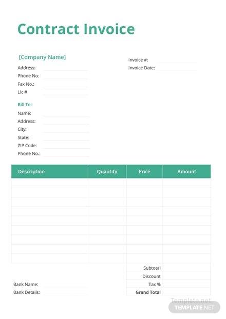 contract invoice design