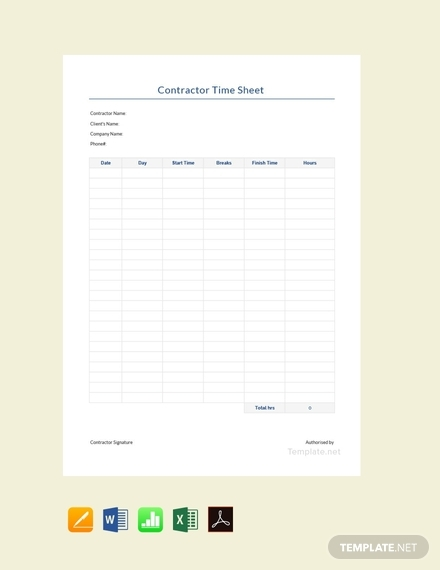 contractor timesheet template1