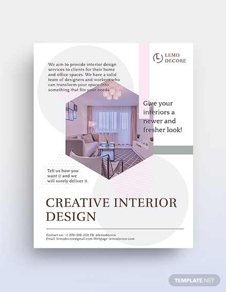 creative interior design flyer