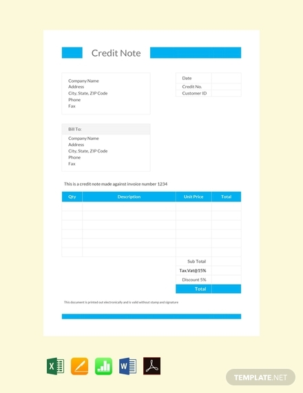 credit note format2