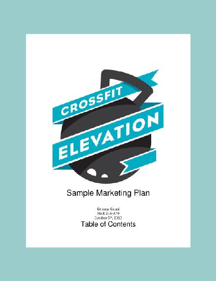 crossfit elevation marketing plan