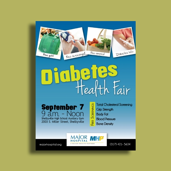 diabetes health fair flyer