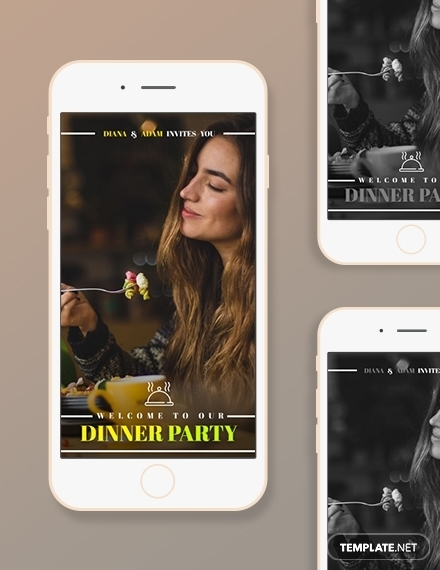 dinner party snapchat geofilters