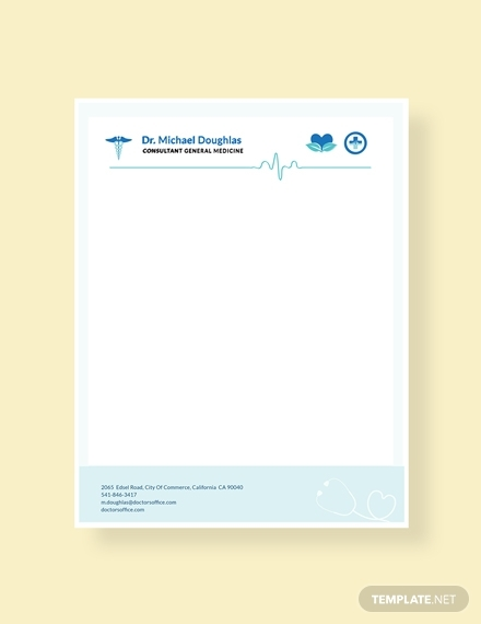 doctor letterhead