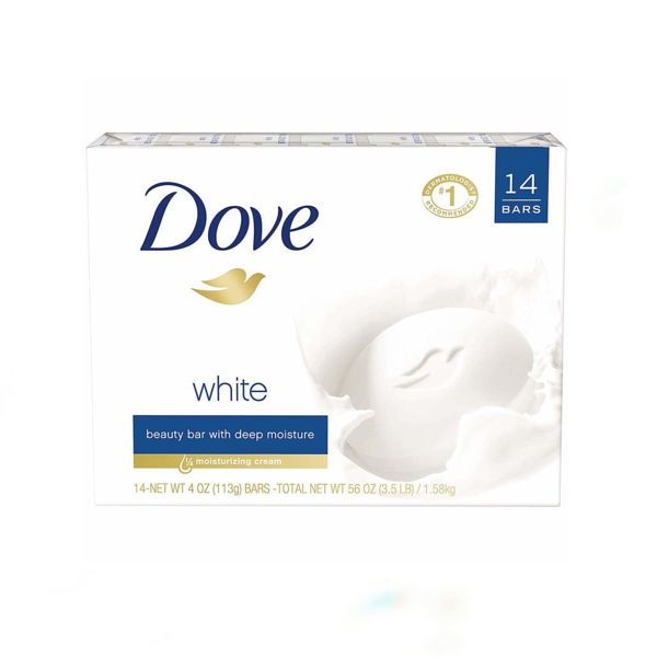 dove white beauty bar label