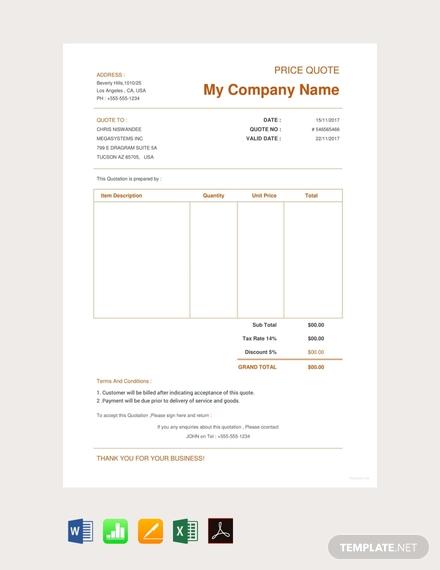 ecommerce website quotation design