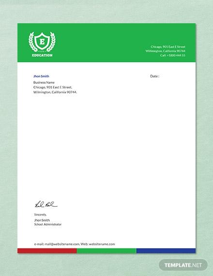 education letterhead