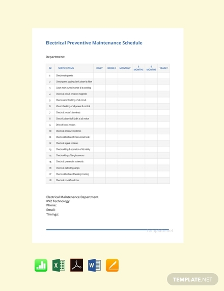 electrical preventive maintenance schedule1