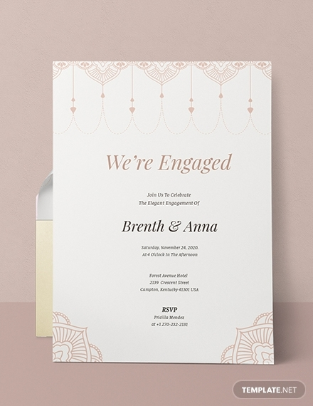 elegant engagement party invitation