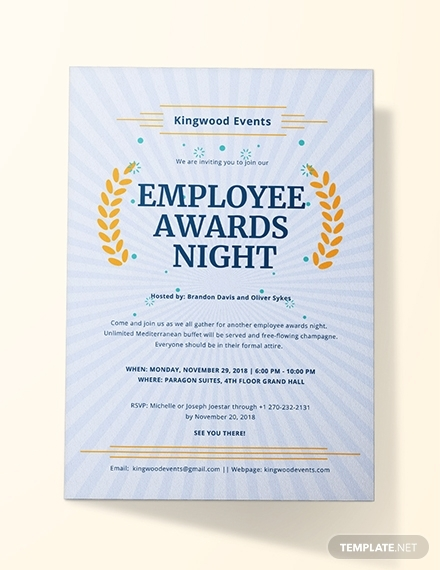 employee awards night invitation