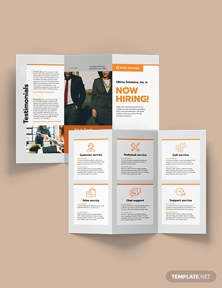 employee recruitment tri fold brochure
