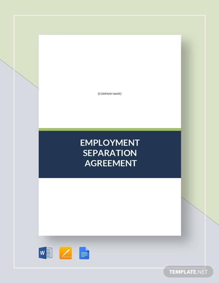 employment separation agreement template